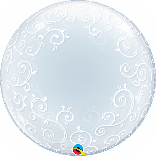 "24"" Swirl Pattern Bubble Balloon"