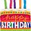 Thumbnail: Large Cake Happy Birthday Foil Balloon