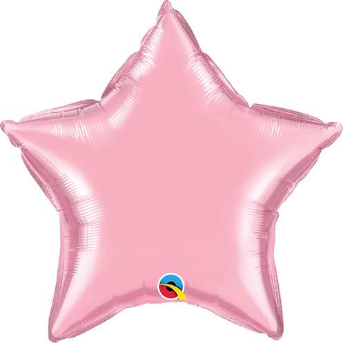"18"" Pastel Pink Star Foil Balloon"