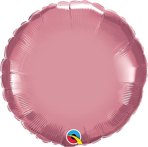 "18"" Chrome Mauve Circle Foil Balloon"