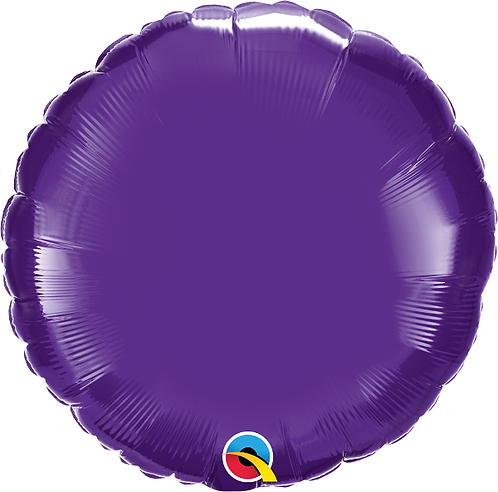 "18"" Purple Circle Foil Balloon"