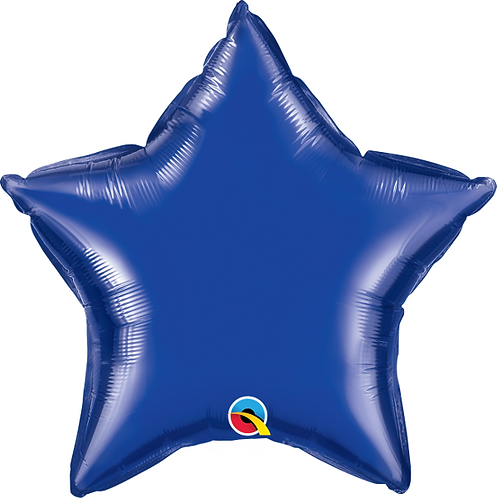 "18"" Navy Blue Star Foil Balloon"