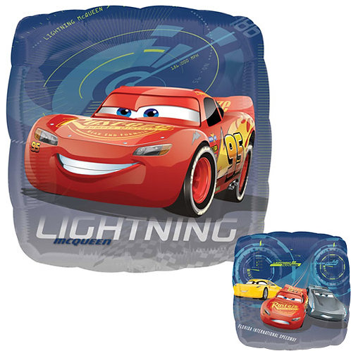 """Cars 2 18"""" Foil With 2 Latex To Match"""