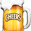 Thumbnail: Large Beer Cheers Pint Glass Foil Balloon