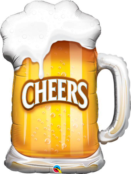 Large Beer Cheers Pint Glass Foil Balloon