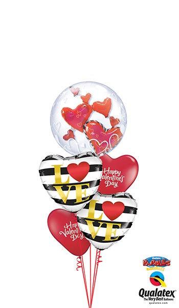 Love Bubble, Foil & Latex Cluster