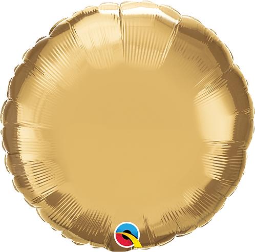 """18"""" Chrome Gold Circle Foil Balloon"""