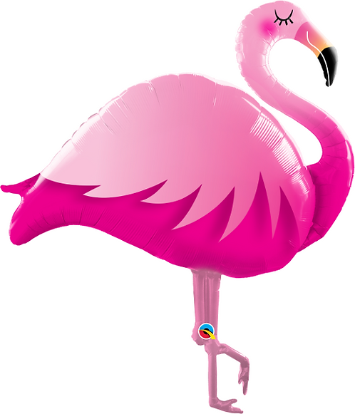 Large Flamingo Foil Balloon