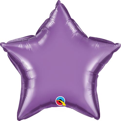 """18"""" Chrome Purple Star Foil Balloon"""