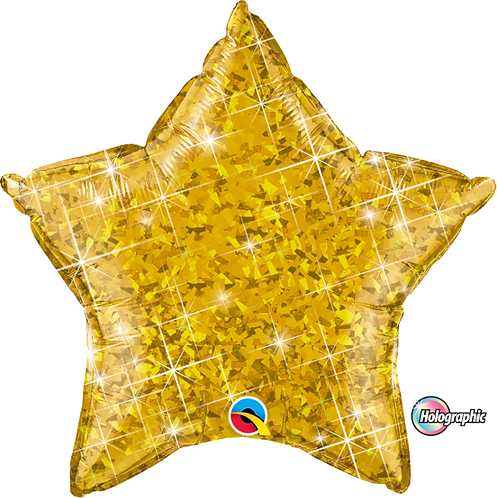 "18"" Glittery Gold Star Foil Balloon"