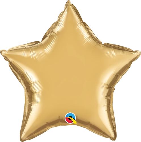 "18"" Chrome Gold Star Foil Balloon"