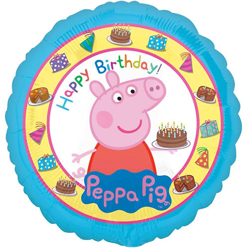 """Peppa Pig 18"""" Foil With 2 Latex To Match"""