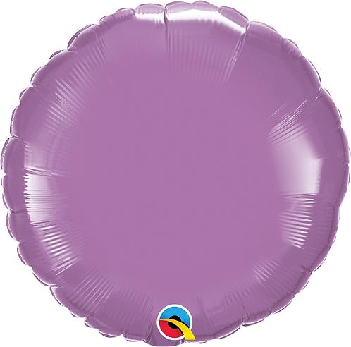 "18"" Lilac Circle Foil Balloon"