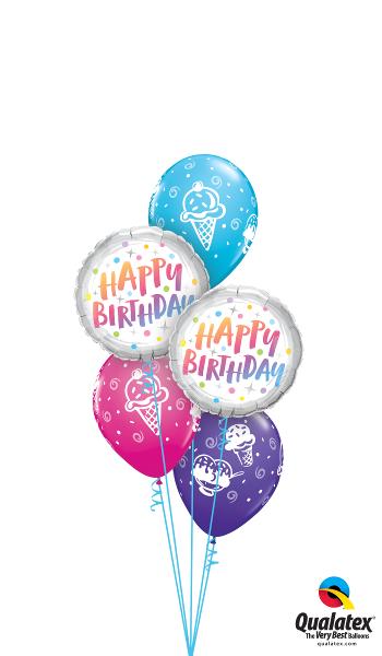 Happy Birthday Foil & Latex Cluster