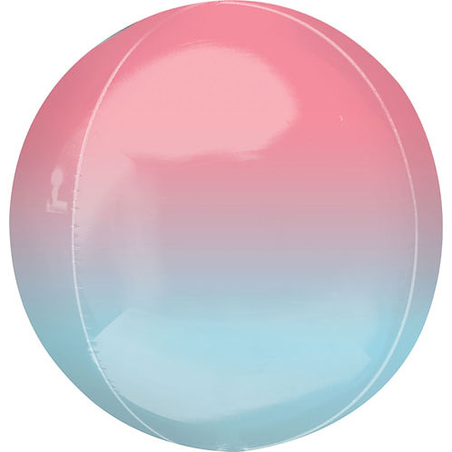 Pastel Blue / Pink Ombre Orbz Balloon