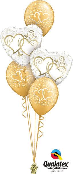 Heart Foil & Latex Balloon Cluster