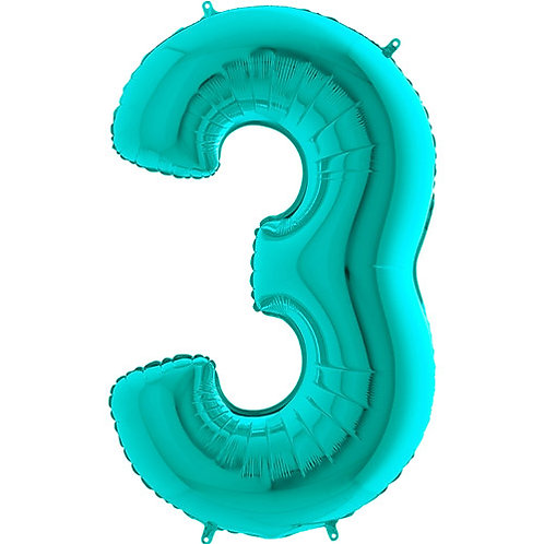 """Tiffany Blue 34"""" 0 - 9 Number Foils"""