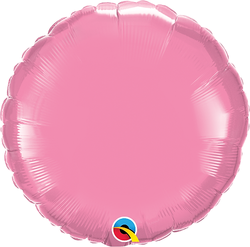 "18"" Pearl Pink Circle Foil Balloon"