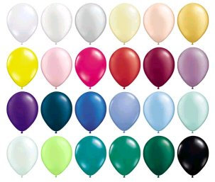 "Solid Colour 11"" Latex Balloons"