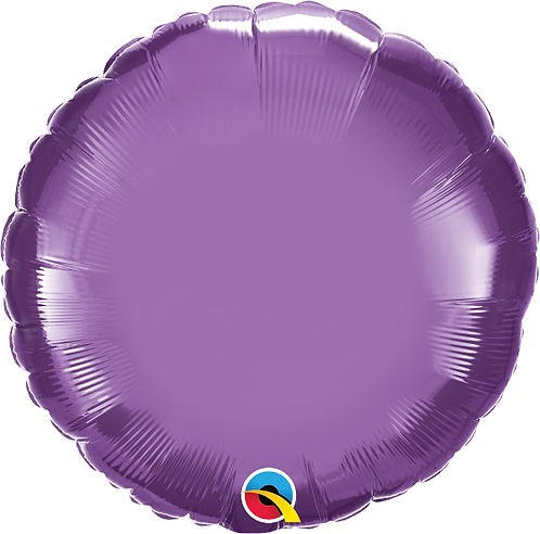 "18"" Chrome Purple Circle Foil Balloon"