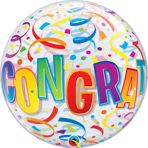 Congratulations Bubble Balloon