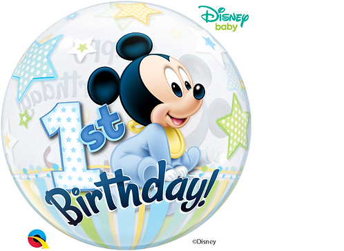 Mickey Mouse 1st Birthday Bubble Balloon