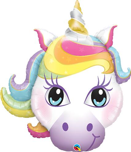 Large Unicorn Head Foil Balloon