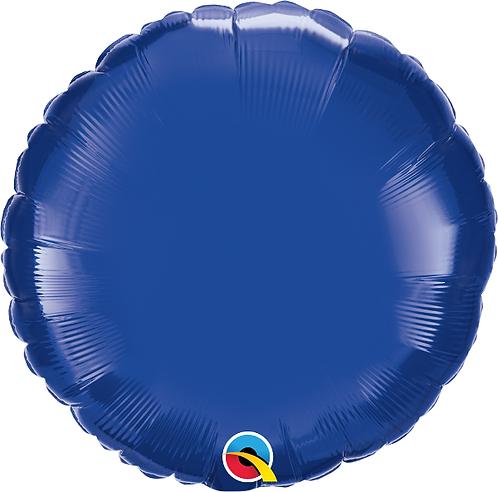 "18"" Navy Blue Circle Foil Balloon"