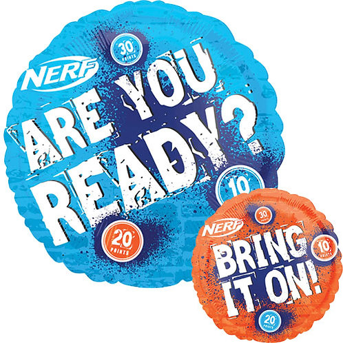 """Nerf 18"""" Foil With 2 Latex To Match"""