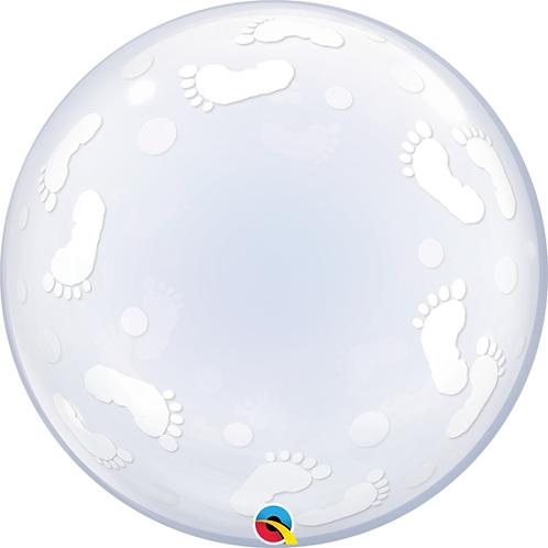 "24"" Baby Feet Bubble Balloon"