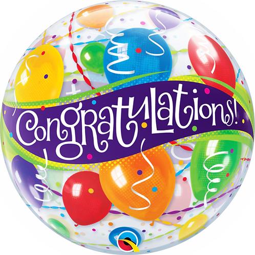 Congratulations Bubble Balloon