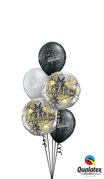 Congratulations Foil & Latex Balloon Cluster