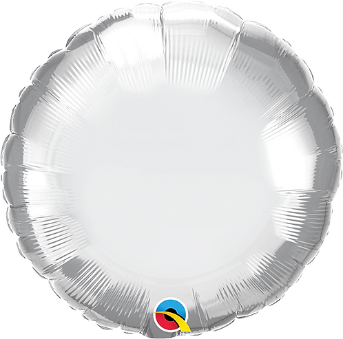 "18"" Chrome Silver Circle Foil Balloon"