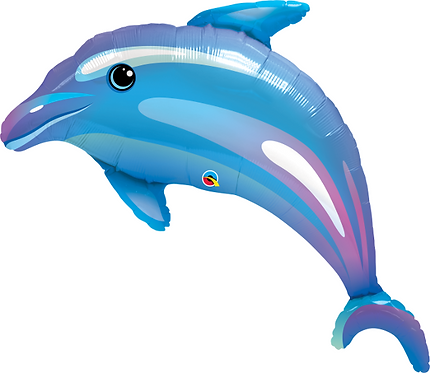 Large Dolphin Foil Balloon