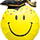 Thumbnail: Large Graduation Smiley Emoji