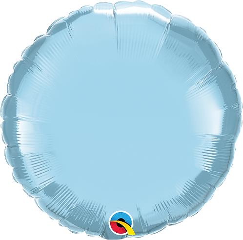 "18"" Pastel Blue Circle Foil Balloon"