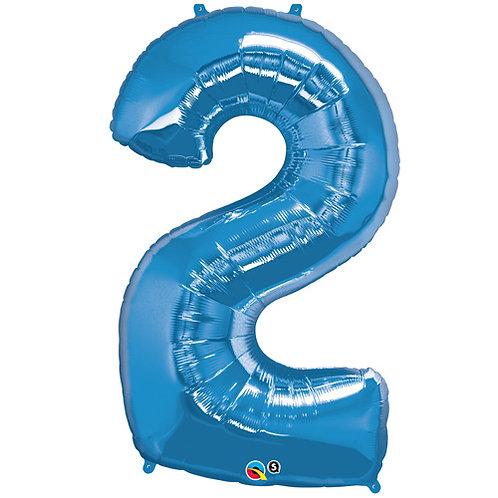 "Blue 34"" 0 - 9 Foil Balloons"