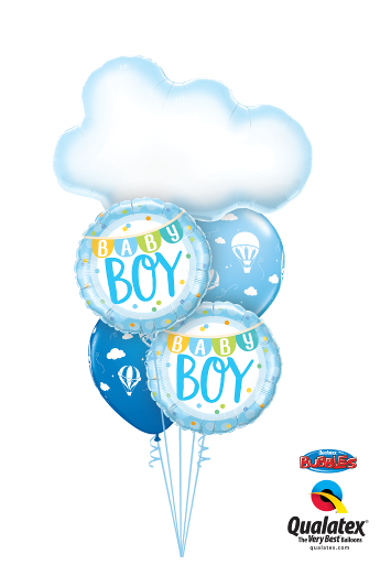 Baby Boy Cloud Design Foil & Latex Cluster