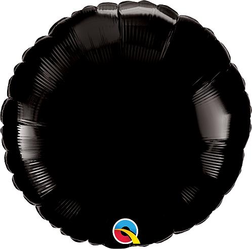 "18"" Black Circle Foil Balloon"