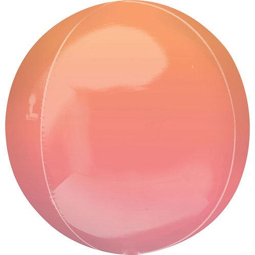 Orange & Red Ombre Orbz Balloon