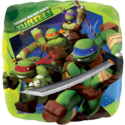 "Teenage Ninja Mutant Turtles 18"" Foil With 2 Latex To Match"