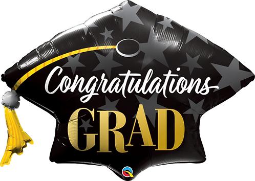 Large Graduation Hat Foil Balloon