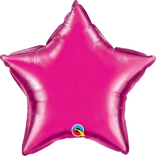 "18"" Wild Berry Star Foil Balloon"