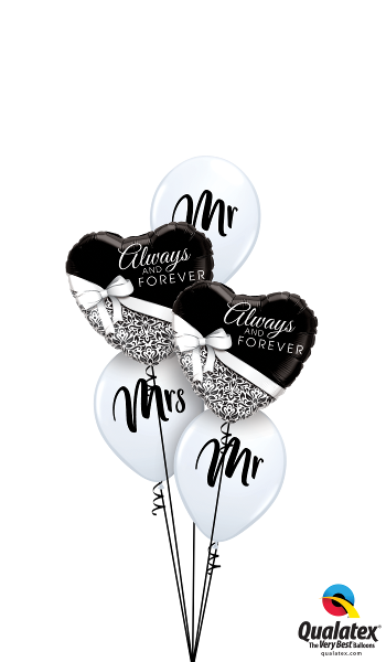 Mr & Mrs Foil & Latex Balloon