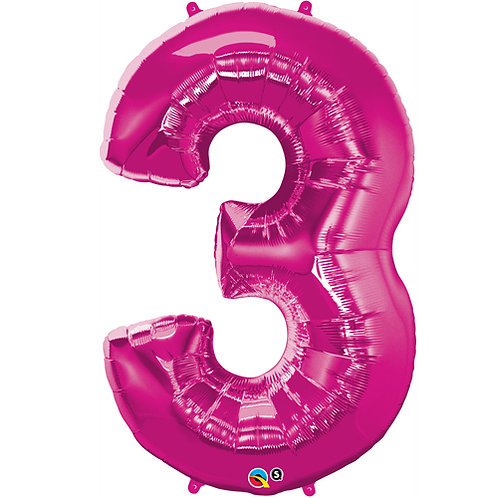 "Pink 34"" 0 - 9 Numbers Foil Balloons"