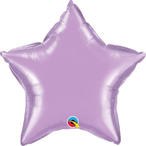 "18"" Pastel Lilac Foil Star Balloon"