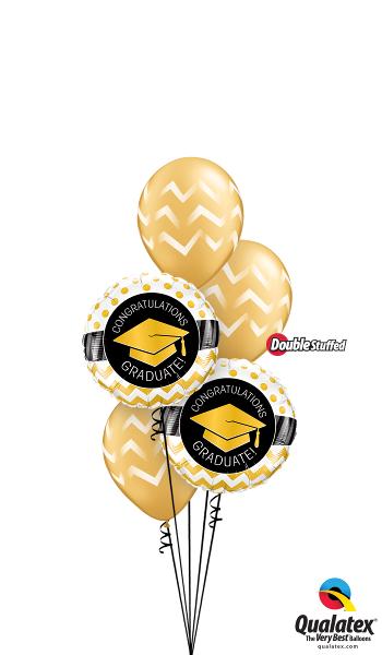 Graduation Foil & Latex Cluster