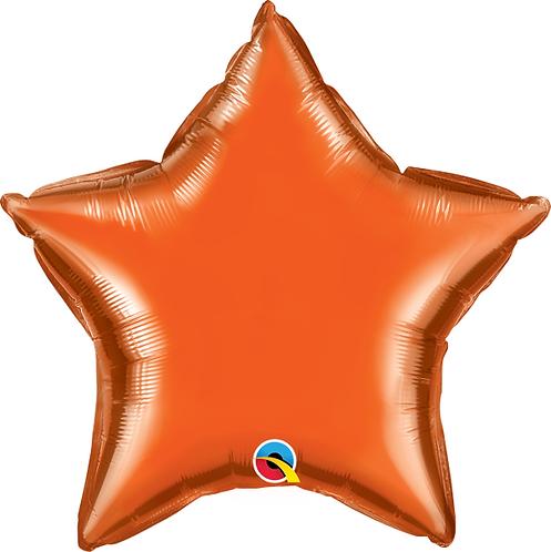 "18"" Orange Star Foil Balloon"