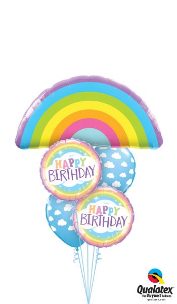 Rainbow Happy Birthday Foil Cluster