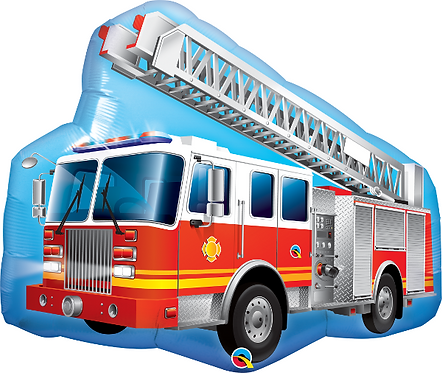 Large Fire Engine Foil Balloon